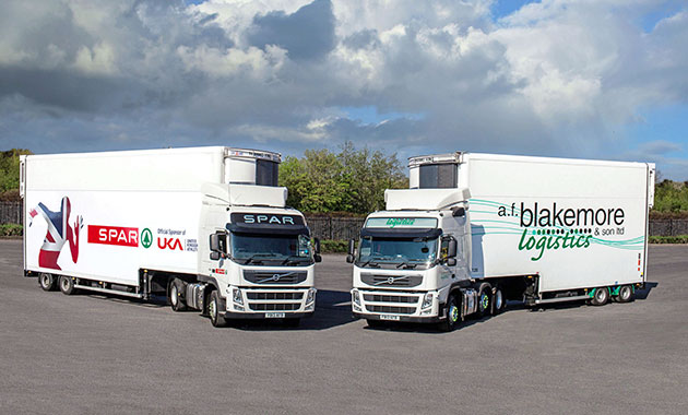 AF Blakemore Logistics and Spar UK trucks - use Paragon route optimisation software to drive efficiency