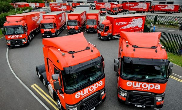 Europa Worldwide Group selects Paragon to automate the route planning process and maximise use of resources