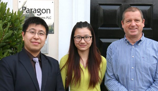 Paragon Software Systems appoints two new support consultants from growing operations in China