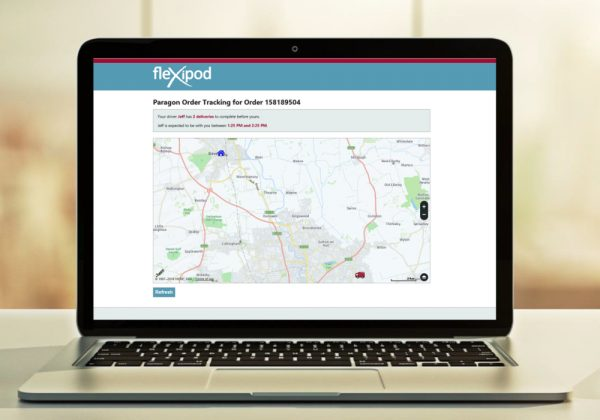 Paragon enhances fleXipod with map-based track my driver functionality