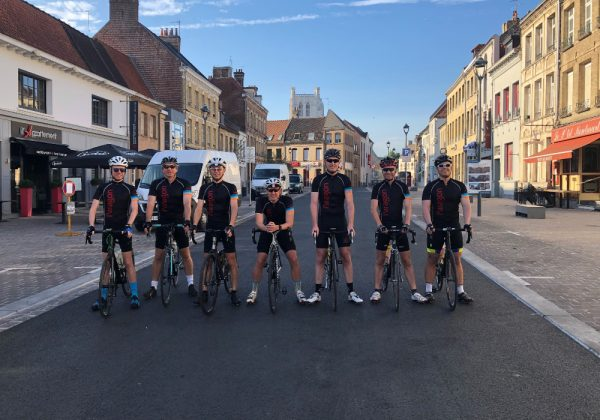 Paragon's cycling team during Velo France